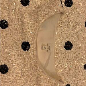J. Crew Sequins cream with black shirt never worn